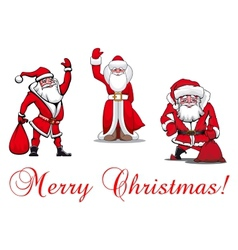Cartoon santa clauses vector