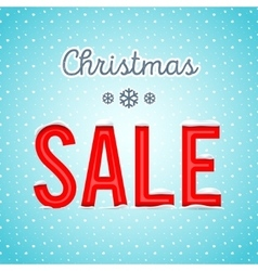 Creative Christmas sale poster with a blue vector image vector image