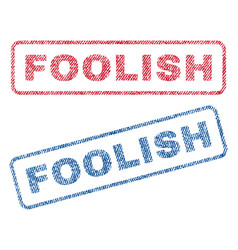 Foolish textile stamps vector