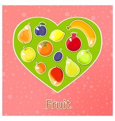 fruit heart vector image vector image