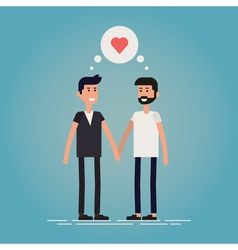Gay male couple vector
