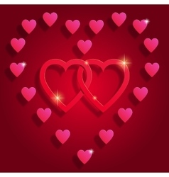Happy Valentine s day abstract background vector image vector image