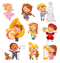 hobbies funny cartoon character vector image vector image