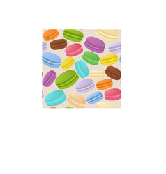 Icon logo for pile colorful macaroons vector