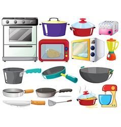 kitchen set vector image vector image
