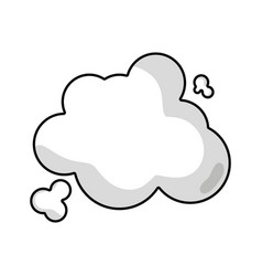Line clouds design and natural weather vector