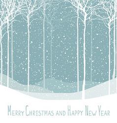 Merry Christmas postcard Calm winter scene vector image vector image