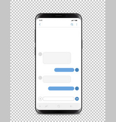 Modern smartphone with blank chat interface vector