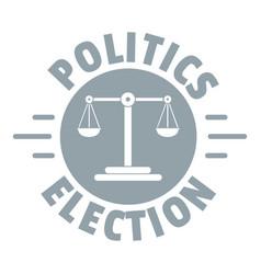 Politics election logo simple gray style vector