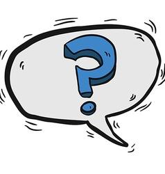 question mark in cartoon speech bubble vector image