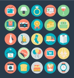 Shopping colored icons 2 vector