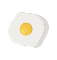 silhouette color with fried egg vector image vector image