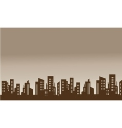 Skyline city silhouettes beautiful scenery vector