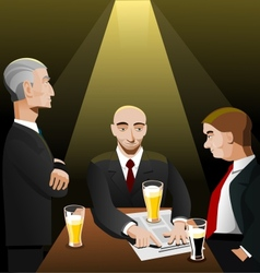 Three businessmen relaxing after work vector image vector image