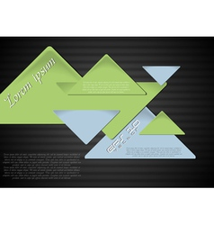 Triangles on the dark background vector image vector image