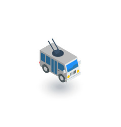 trolleybus passenger transport isometric flat vector image