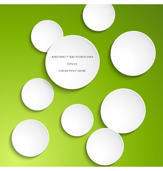white paper circles vector image vector image
