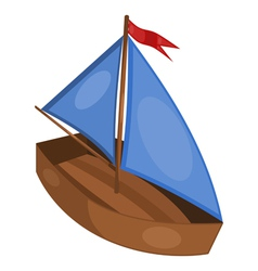 little ship vector image
