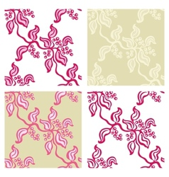 Seamless backgrounds from twigs of berries set vector image