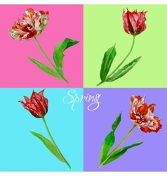 Background with tulips3-01 vector image