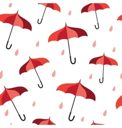 Seamless pattern with red umbrellas vector