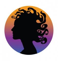 medusa hair woman vector image