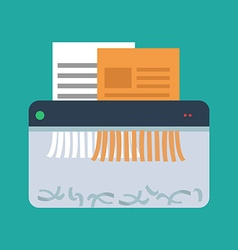 Icon of paper shredder flat style vector