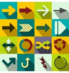 Arrow sign flat icons vector