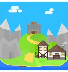 Cartoon medieval background vector