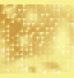 Abstract square mosaic tile yellow golden vector