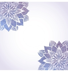 Background with watercolor violet floral vector