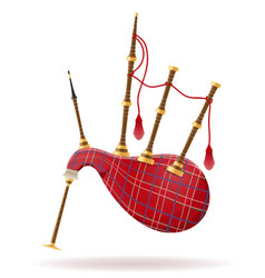Bagpipes wind musical instruments stock vector