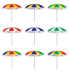 Beach umbrella isolated on white background vector image