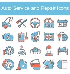 Car repair icons vector image vector image