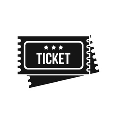 Circus show tickets icon simple style vector