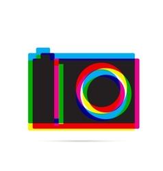 Digital camera icon with shadow vector