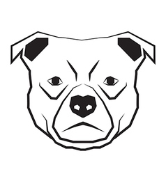 dog face black and white drawing contour vector image vector image