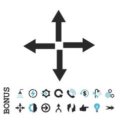 Expand arrows flat icon with bonus vector