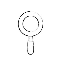 figure magniifying glass object and school tool vector image