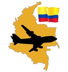 fly me to the Colombia vector image vector image