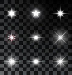 Glowing and sparkling stars vector