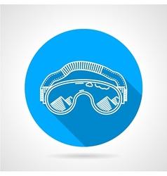 Goggles circle flat icon vector image