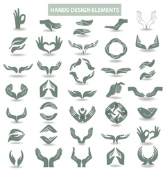 Hands design element vector image vector image