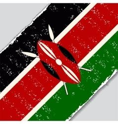 Kenyan grunge flag vector