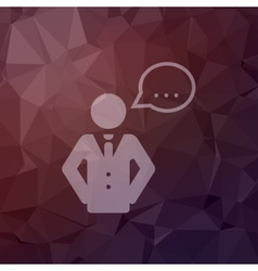 Male speech bubble in flat style icon vector image