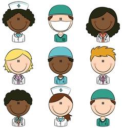 Medical avatars vector