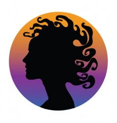 medusa hair woman vector image vector image