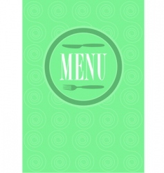 menu card design vector image vector image