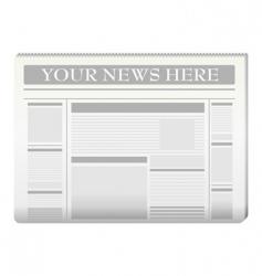 Newspaper template vector