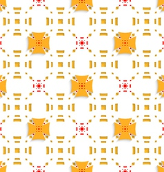 Orange crosses on top perforated rectangles vector
